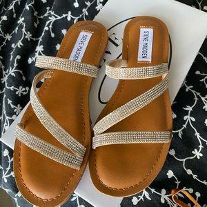 New Steve Madden Pammy Sparkly Sandals 6